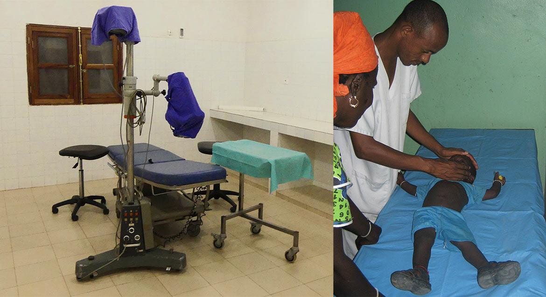 Equipements de Bala, intervention d'un médecin dans un village