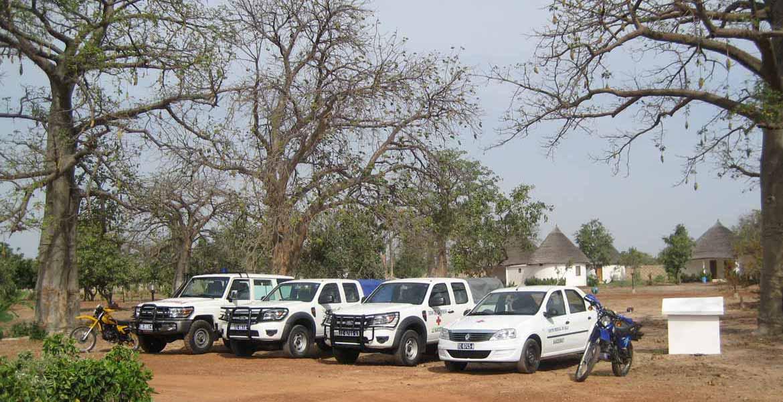 La flotte de véhicules du centre de Bala